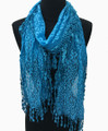 Lightweight Leopard Design Lace Scarf with Fringe Assorted Dozen #727