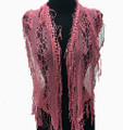 Lightweight  Lace Scarf with Fringe Assorted Dozen #729