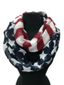 Lightweight American Flag Infinity Scarf Assorted Dozen #S 805