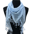 Lightweight Hart Design Lace Scarf with Fringe Assorted Dozen #901