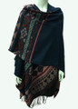 Womens Stylish Poncho Cape Shawl  Navy # P039-2