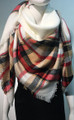 Womens Stylish shawl  Scarf  White # P172-3