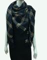 Womens Stylish shawl  Scarf  Black # P173-2