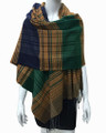 Multi Color Scarf Green / Navy #S 79-1