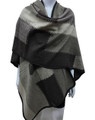 Women's Winter Reversible Oversized  Poncho Cape Coffee # P176-3