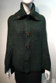Ladies' Stylish Two-Tone Poncho Green / Navy # P179-8