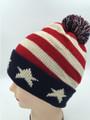American Flag Stars Knit Hats Wholesale Dozen #H1168