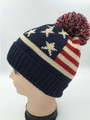 American Flag Stars Knit Hats Assorted Dozen #H1158