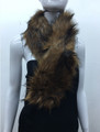 Super Soft Faux Fur  Warm Scarf Brown  #S 80-2