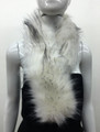 Super Soft Faux Fur  Warm Scarf White  #S 80-3