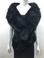 Super Soft Faux Fur  Warm Scarf Black  #S 82-2