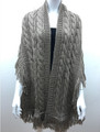 Solid Color Cable-Knit Shawl Scarf Assorted Dozen # s90