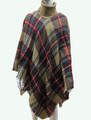 Womens Stylish Turtleneck  Poncho Khaki # P184-1