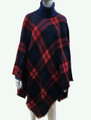 Womens Stylish Turtleneck  Poncho Navy  # P184-6