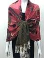 New!  Pashmina Paisley Design Hot pink  Dozen #117-2