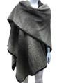 Women's Winter Reversible Oversized  Poncho  Cape Assorted Dozen # P17