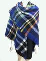 Women's Stylish shawl  Scarf  Royal Blue # P171-10219