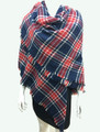 Women's Stylish shawl  Scarf  Navy / Red # P171-10225