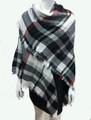 Women's Stylish shawl  Scarf  White / Black # P171-10226