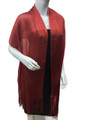 Women's glitter metallic shawl scarf  Red # 736-10