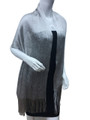Women's glitter metallic shawl scarf  Silver # 736-1