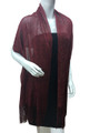 Women's glitter metallic shawl scarf  Burgundy # 736-6