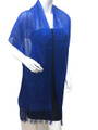 women's glitter metallic shawl scarf  Royal Blue # 736-14
