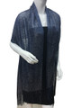 women's glitter metallic shawl scarf   Navy # 736-20