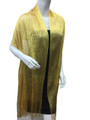 women's glitter metallic shawl scarf  Yellow  # 736-16