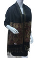 New!   Metallic Pashmina  Black Dozen #P14-5