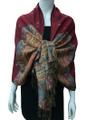 New!    Metallic Pashmina  Red Dozen #58-12