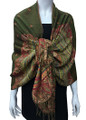 New!    Metallic Pashmina  olive Dozen #58-18