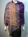 New!   Metallic Pashmina  purple Dozen #58-19