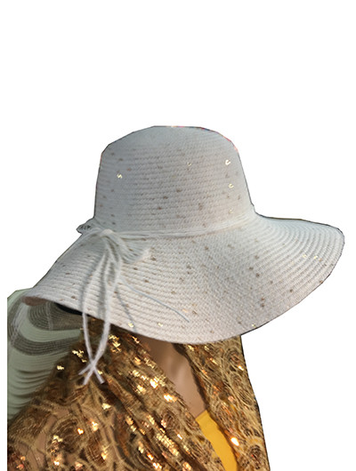 bed4c14a205 Summer Straw Floppy String Band with Sequins Hat Assorted Dozen  8033.  Image 1