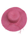 Summer Straw Floppy String Band with Sequins Hat Red #8033-2
