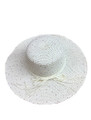 Summer Straw Floppy String Band with Sequins Hat Ivory #8033-6