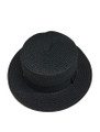 Unisex Summer Straw Sun Hat Black #8018-1