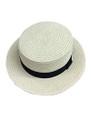 Unisex Summer Straw Sun Hat Ivory #8018-5