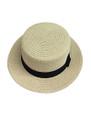 Unisex Summer Straw Sun Hat Beige #8018-4