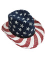 Summer Straw Outback Hat Stars and Stripes #8019-2