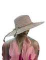 Summer Straw Big Brim String Bow Band Hat Assorted Dozen #8021