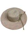 Summer Straw Big Brim String Bow Band Hat Pink #8021-1