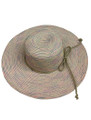 Summer Straw Big Brim String Bow Band Hat Pink #8021-1
