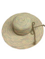 Summer Straw Big Brim String Bow Band Hat Brown #8021-3