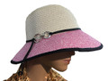 Summer Straw Cloche Ring Clasp Band Hat Assorted Dozen #8036
