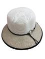 Summer Straw Cloche Ring Clasp Band Hat Beige #8036-3