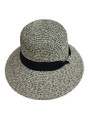 Summer Straw Two Tone Hat  #8037-3