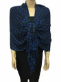 New! Pashmina Diamond Design Royal Blue / Navy Dozen #111-6