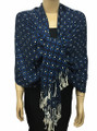 New! Pashmina Polka Dot Royal Blue / Navy Dozen #109-1