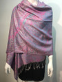 New! Pashmina  Metallic Gray Dozen #1120-4